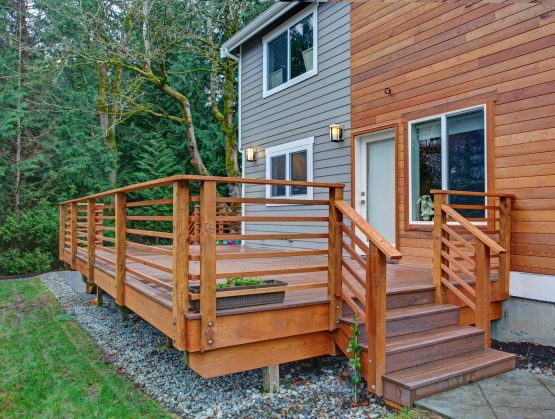 wood deck installation Fayetteville Arkansas